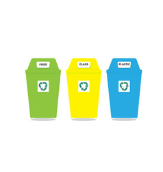 Recycle bin trash and garbage icon vector