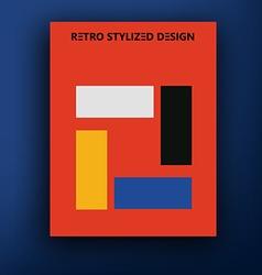 retro bauhaus de stijl brochure booklet cover vector image