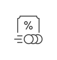 Royalty rate line outline icon vector