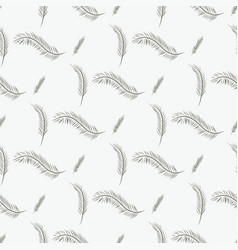Seamless of feather style set texture line vector