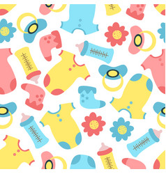 Seamless pattern with bathings vector