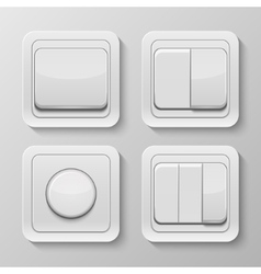 Set of realistic switches vector image