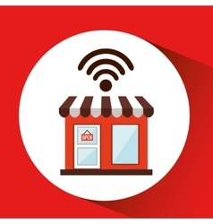 Shopping store free wifi vector