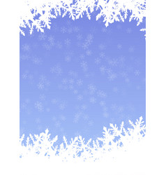 snowflake background in cover paper design vector image