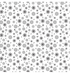 snowflakes seamless pattern on white background vector image