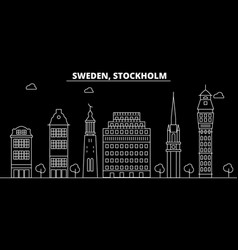 stockholm silhouette skyline sweden - stockholm vector image