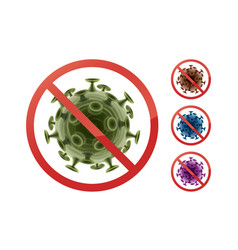 Stop sign on bacteria vector