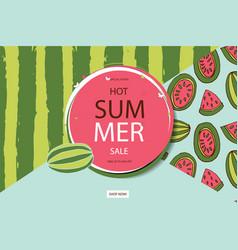 Summer sale in watermelon background vector
