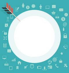 Target flat concept icon icon image sign vector