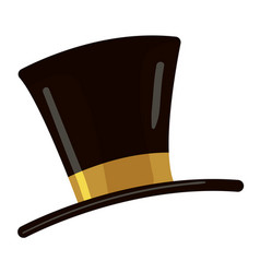 Top hat icon cartoon style vector