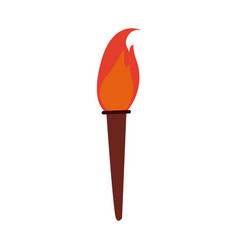 Torch fire hot flame power flaming and heat vector