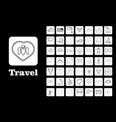 Travel line icons for web and mobile thin line vector