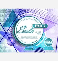 Triangle sale vector