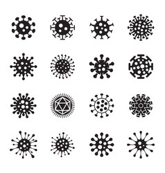 virus icons on a white background vector image