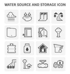 water source icon vector image