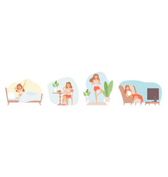 Weekend relax stay at home isolation period vector