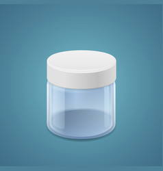 Wide jar vector image