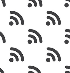 wifi seamless pattern vector image