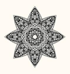 zentangle template round ornament vector image
