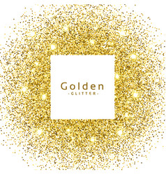 abstract golden glitter sparkles frame vector image vector image
