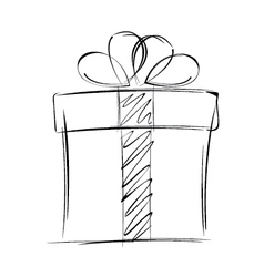 Big gift box isolated on white background vector image vector image