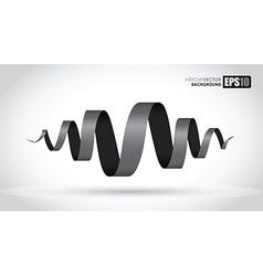 black spiral vector image