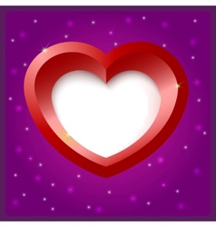 Heart shape object vector image