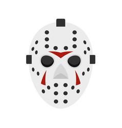 Hockey mask icon flat style vector