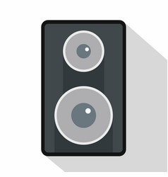 subwoofer icon flat style vector image