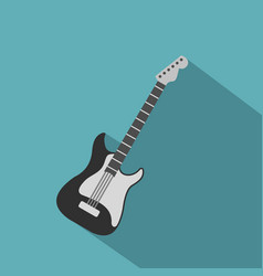 acoustic guitar icon flat style vector image vector image