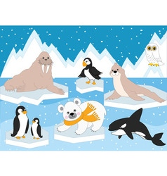 Arctic Set vector image