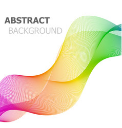 colorful line wave abstract background vector image vector image