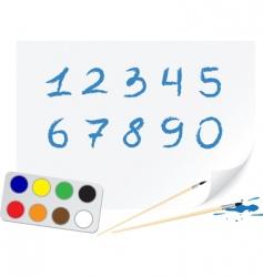 drawing digits vector image vector image