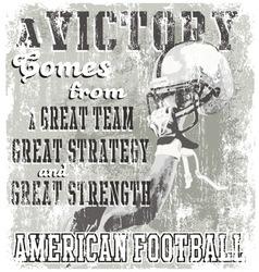 football victory vector image vector image