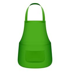 Green kitchen apron vector image vector image