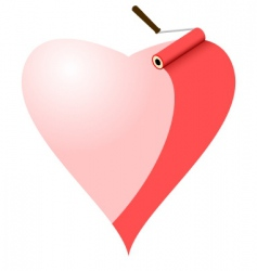 painted heart vector image vector image
