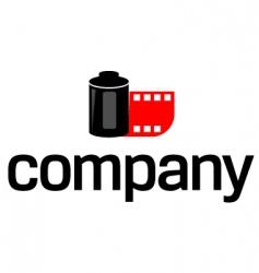 photo film logo vector image vector image