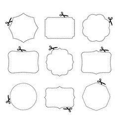 Scissors and frames vector image