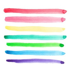 Set of vivid watercolor brush strokes vector image vector image