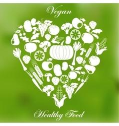 Vegan healthy organic food vector image vector image