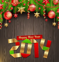 2014 New Years greeting vector image vector image