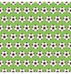 Flat Seamless Sport and Recreation Pattern Soccer vector image vector image