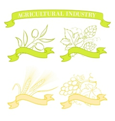 Food emblems and labels vector image