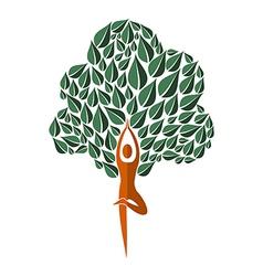 India yoga leaf tree vector image