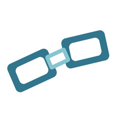 Link flat icon chain and website button vector