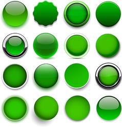 Round green icons vector