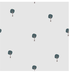 scattered trees tree landscape seamless background vector image vector image