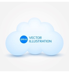 White cloud vector image