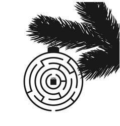 Christmas maze background vector