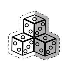 dices game casino symbol thin line vector image